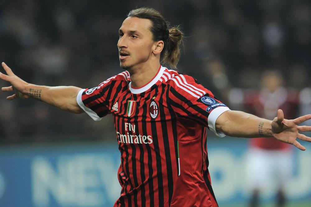 Zlatan Ibrahimovic, attaccante del Milan