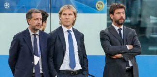 Paratici, Nedved, Agnelli, i dirigenti della Juventus tentano il soffio all'Inter