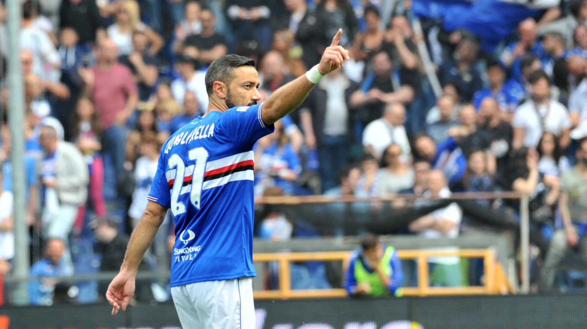 Serie A, Sampdoria: Quagliarella da record