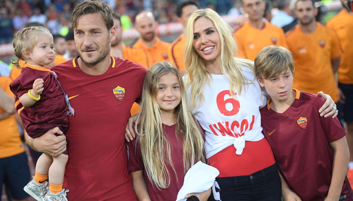 Francesco Totti e famiglia