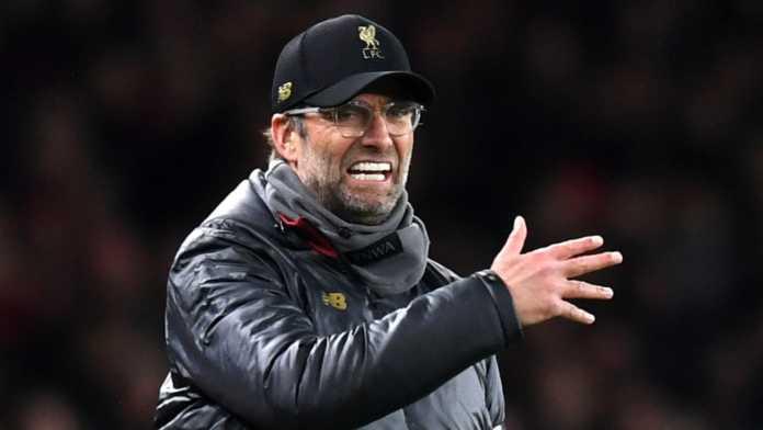Jurgen Klopp grida dopo la vittoria del Liverpool