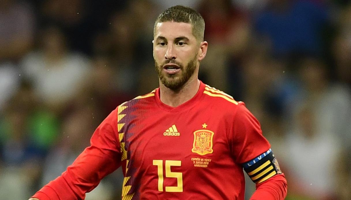 Sergio Ramos autore del gol vittoria della Spagna