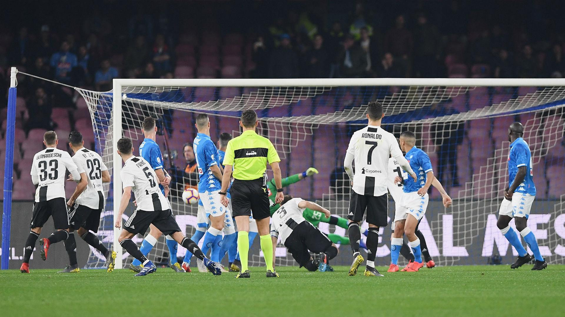 Juventus, gol contro il Napoli