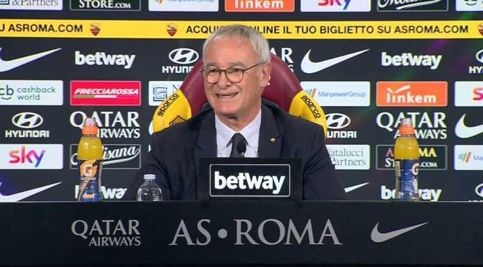 Conferenza stampa per Ranieri oggi in vista di Roma-Udinese