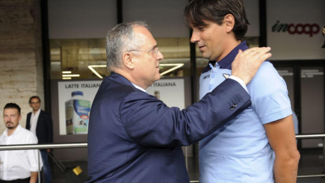 Lotito e Simone Inzaghi