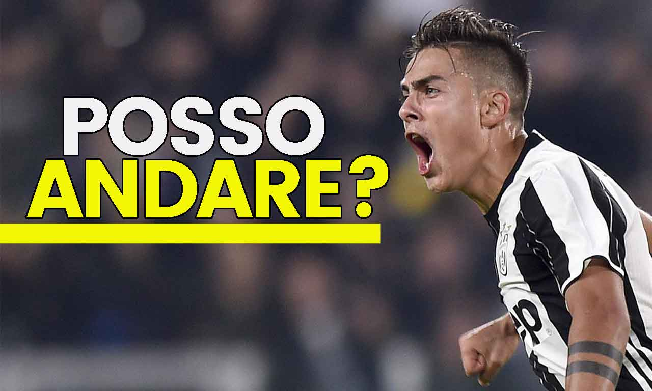 Juventus, addio Dybala