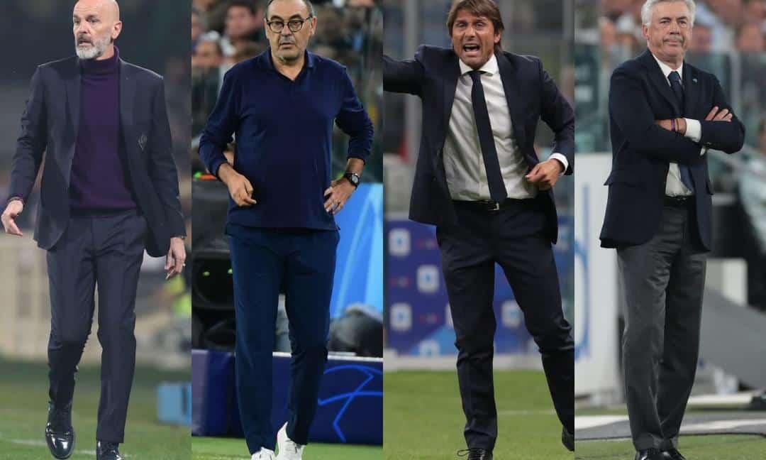 Pioli, Sarri, Conte e Ancelotti