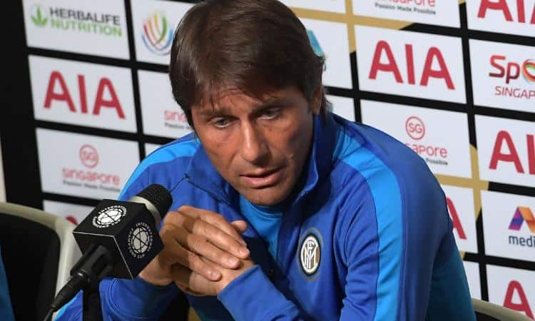Antonio Conte in conferenza stampa