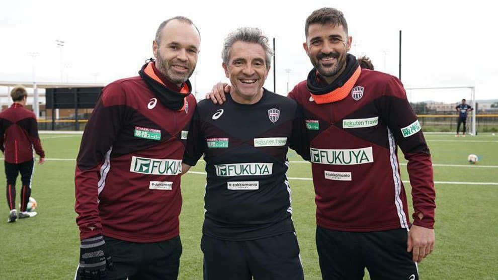 David Villa e Iniesta