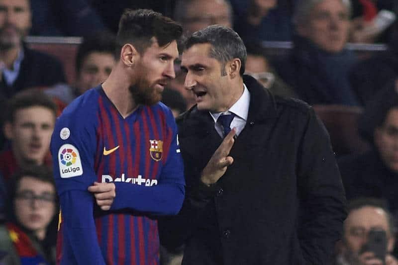 Leo Messi ed Ernesto Valverde