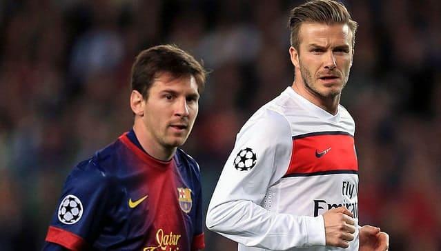 Beckham e Messi