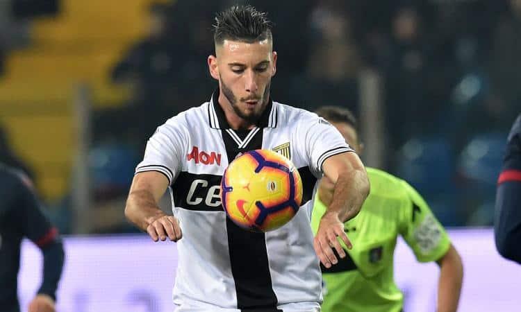 Mattia Sprocati, attaccante del Parma