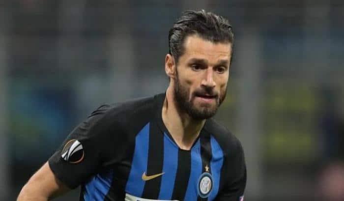 Candreva giocatore dell'Inter