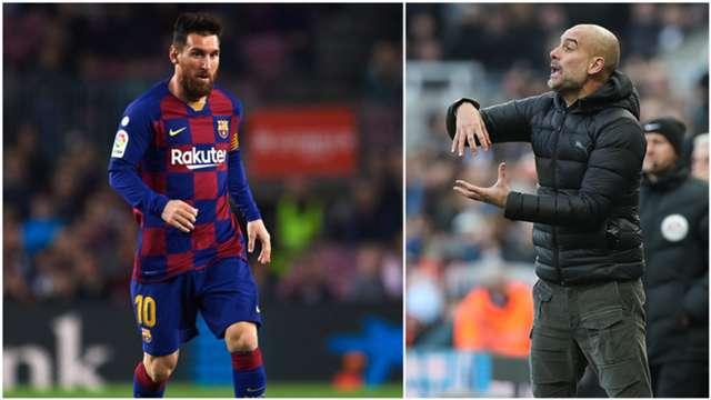 Leo Messi e Pep Guardiola
