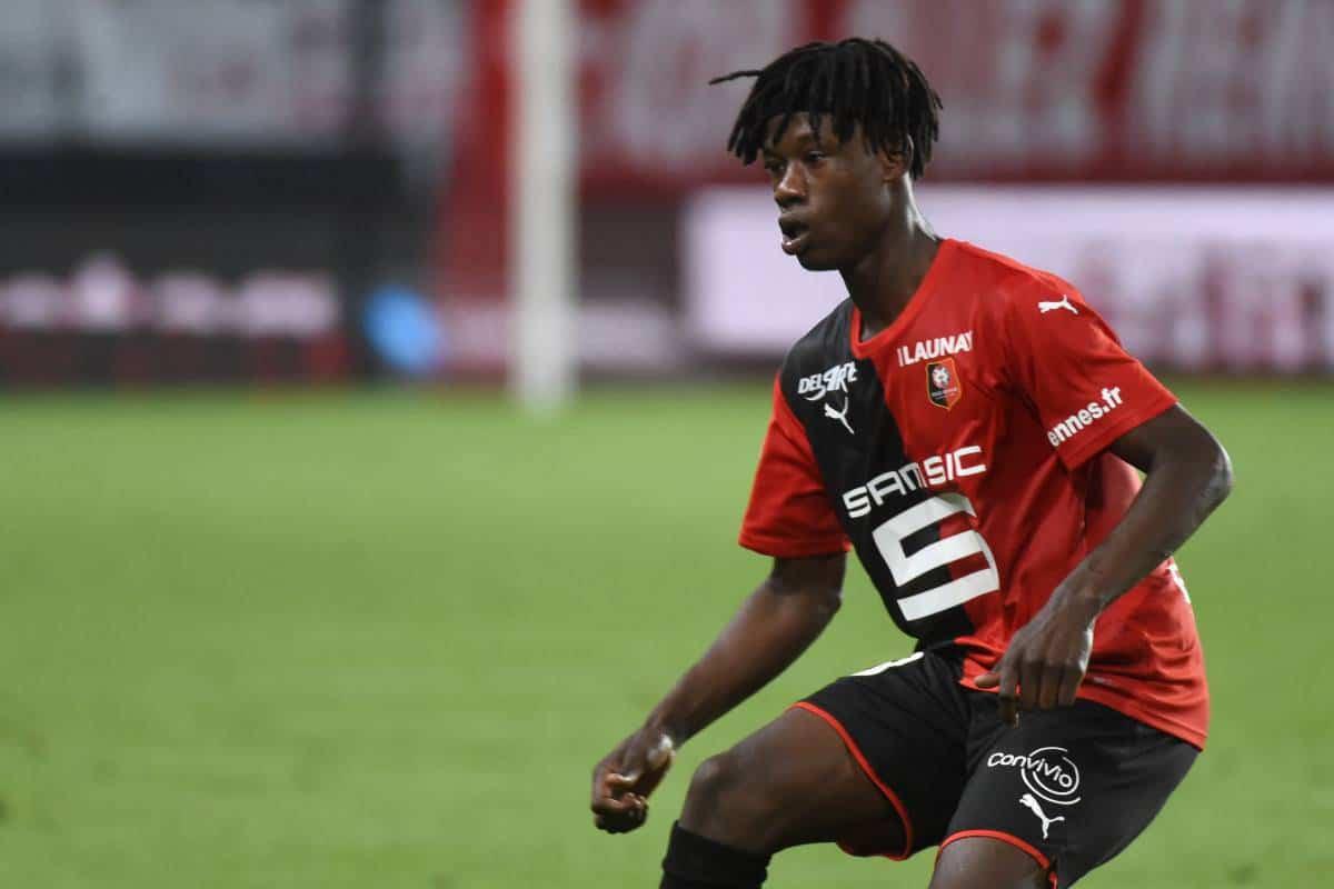 vEduardo Camavinga, centrocampista classe 2002 del Rennes