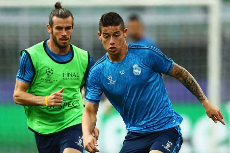Bale e James Rodriguez