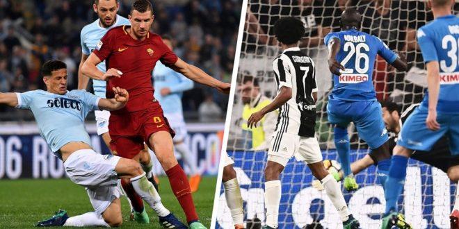 Napoli Juventus e Roma Lazio