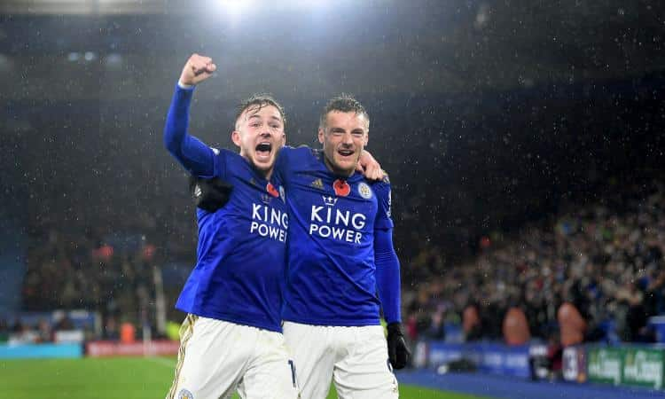 James Maddison e Jamie Vardy, attaccanti del Leicester
