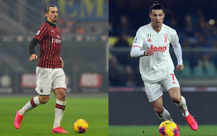 Ibrahimovic e Ronaldo, attaccanti di Milan e Juventus