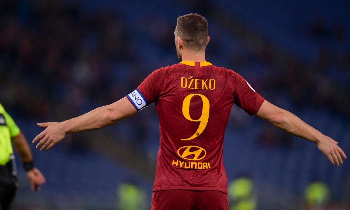 Edin Dzeko, attaccante della Roma