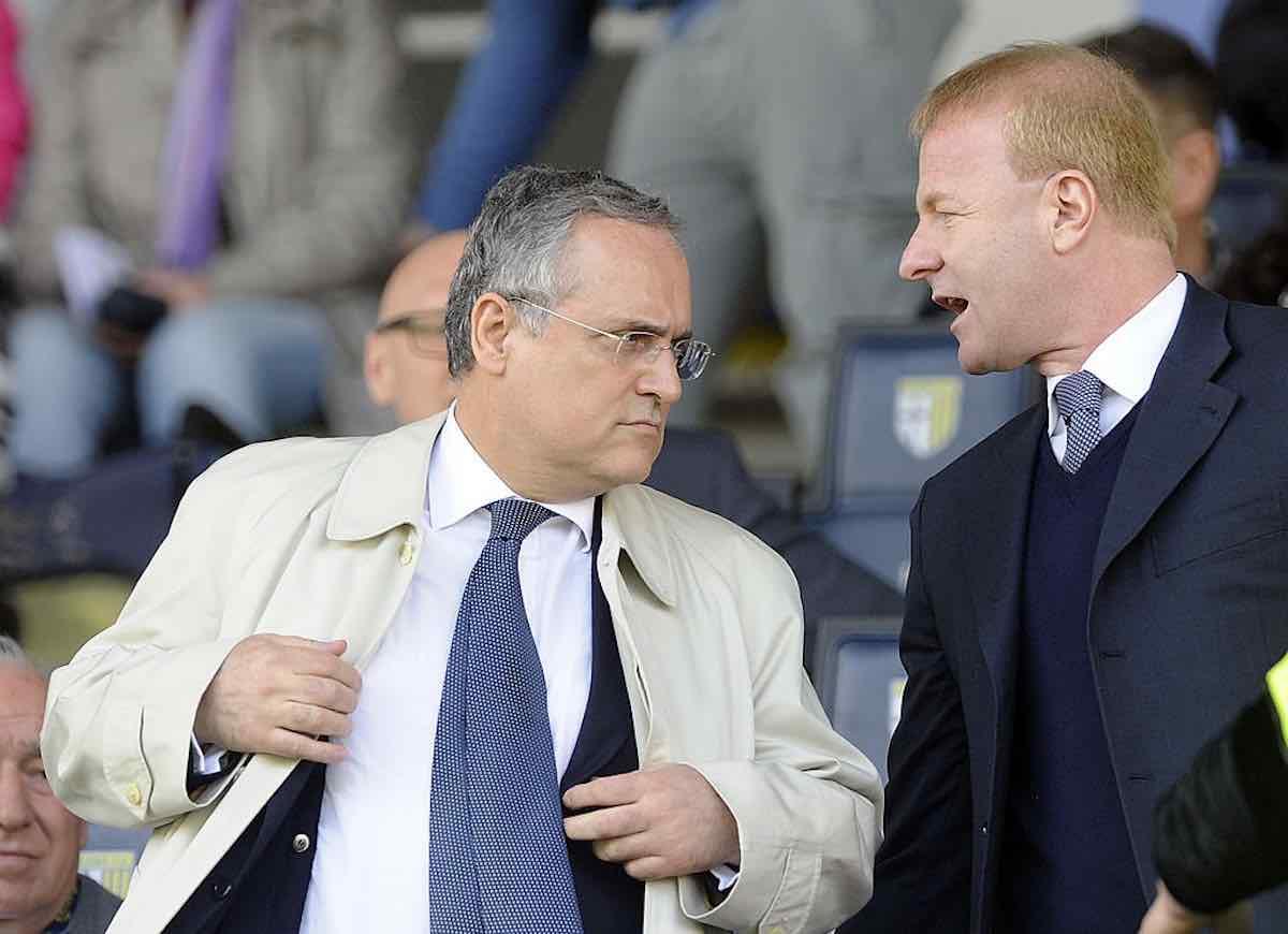 Il presidente della Lazio Claudio Lotito e il direttore sportivo Igli Tare