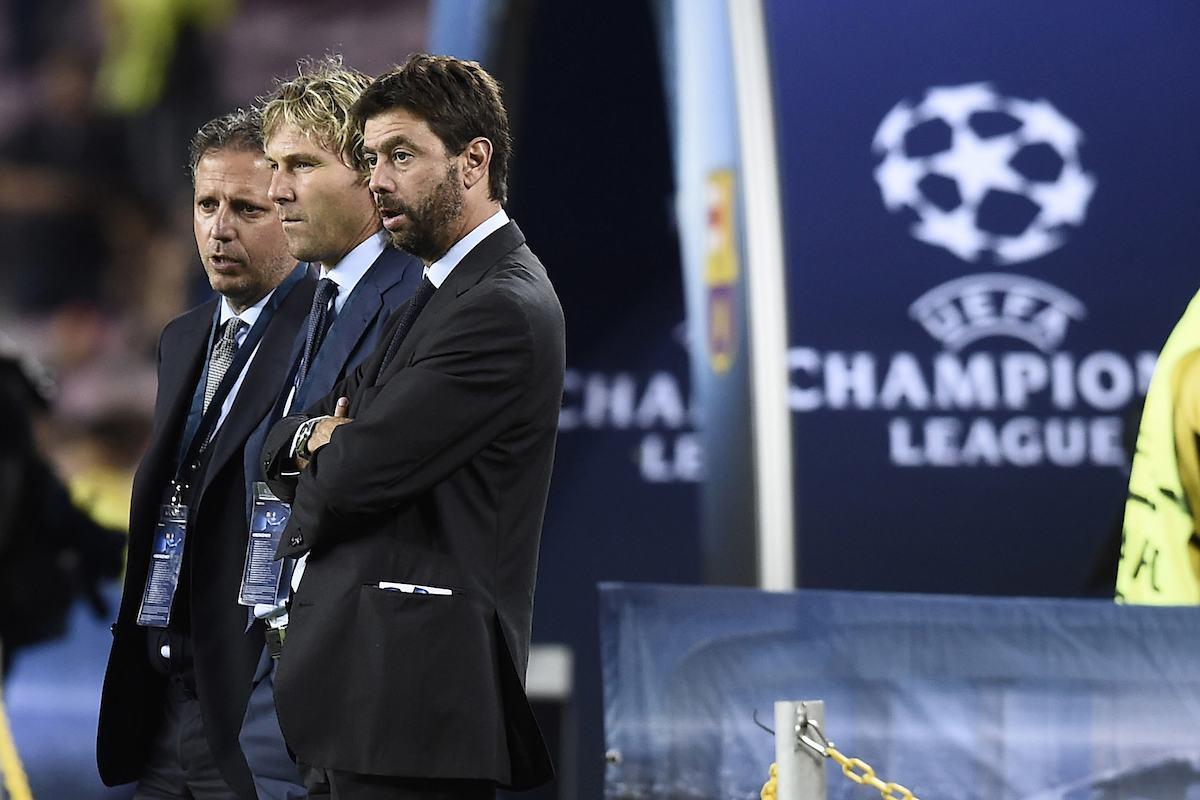 Agnelli, Paratici e Nedved, staff dirigenziale della Juventus
