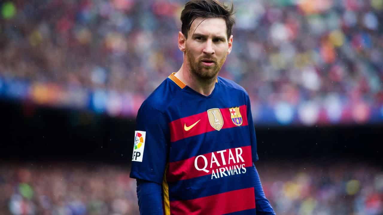 Lionel Messi del Barcellona