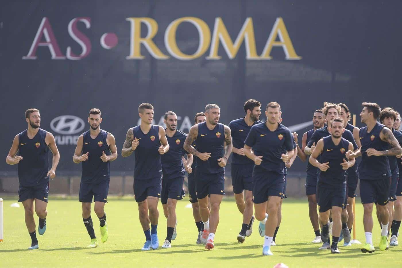 Roma, allenamenti a Trigoria