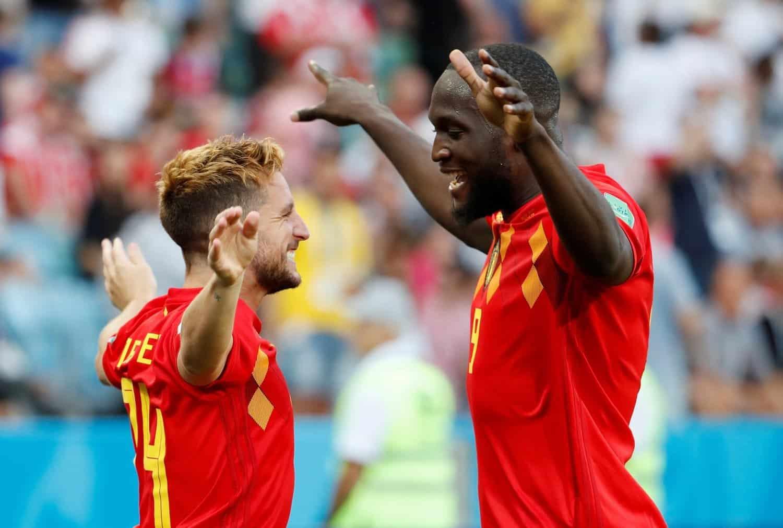 Mertens e Lukaku, attaccante della nazionale belga
