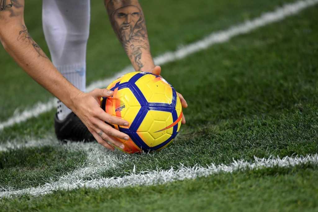 Pallone in calcio d'angolo
