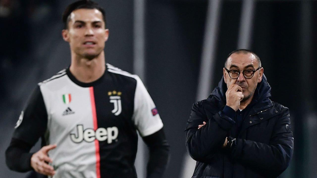Maurizio Sarri e Cristiano Ronaldo