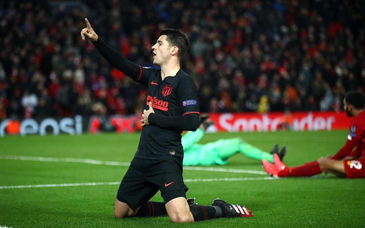 Alvaro Morata attaccante dell'Atletico Madrid