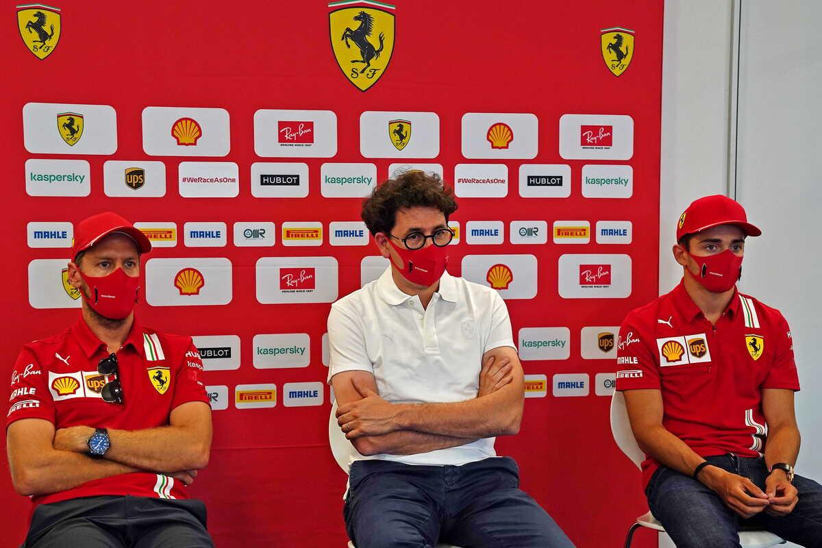 Vettel Binotto e Leclerc