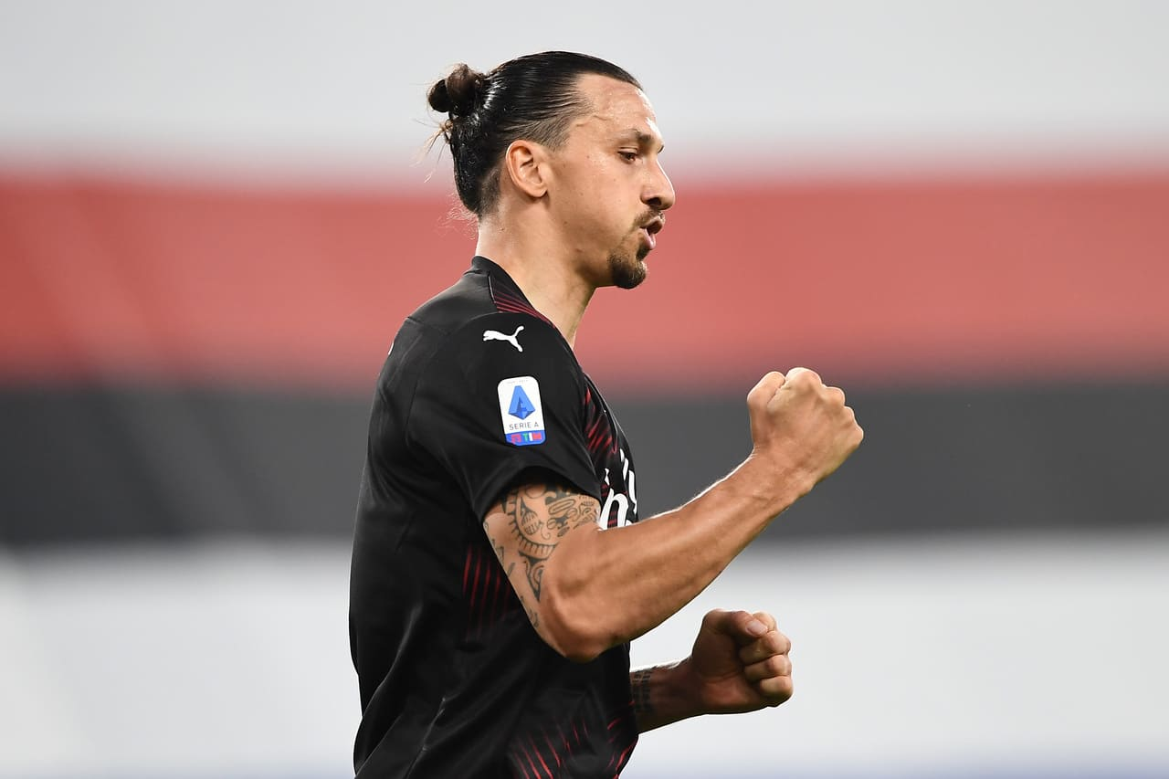Zlatan Ibrahimovic, attaccante del Milan Photo by @imagephotoagency