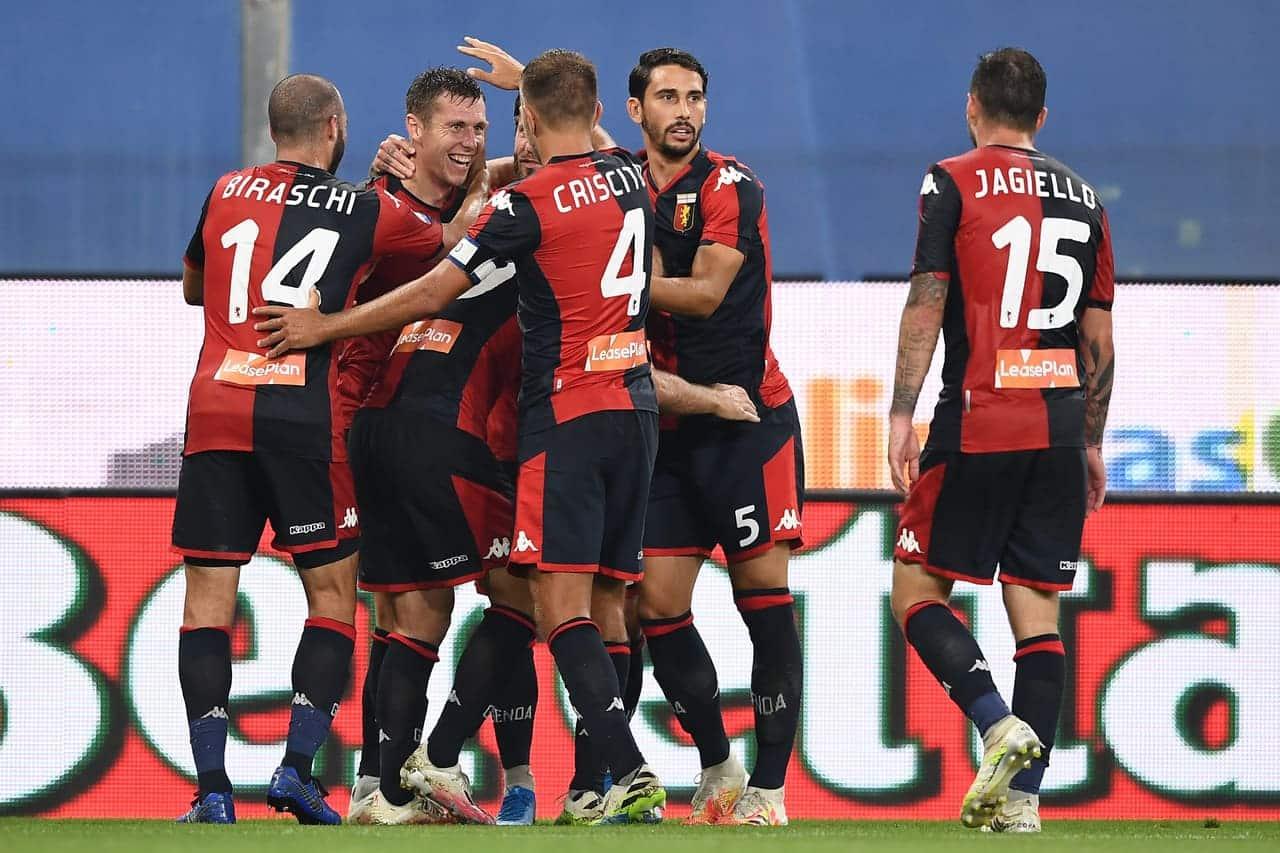Esultanza Genoa gol lerager