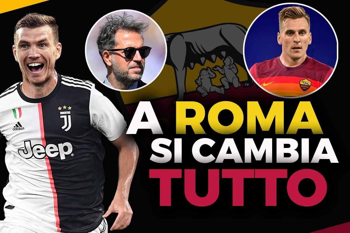 Dzeko alla Juventus, Milik alla Roma: Paratici sbarca nella Capitale