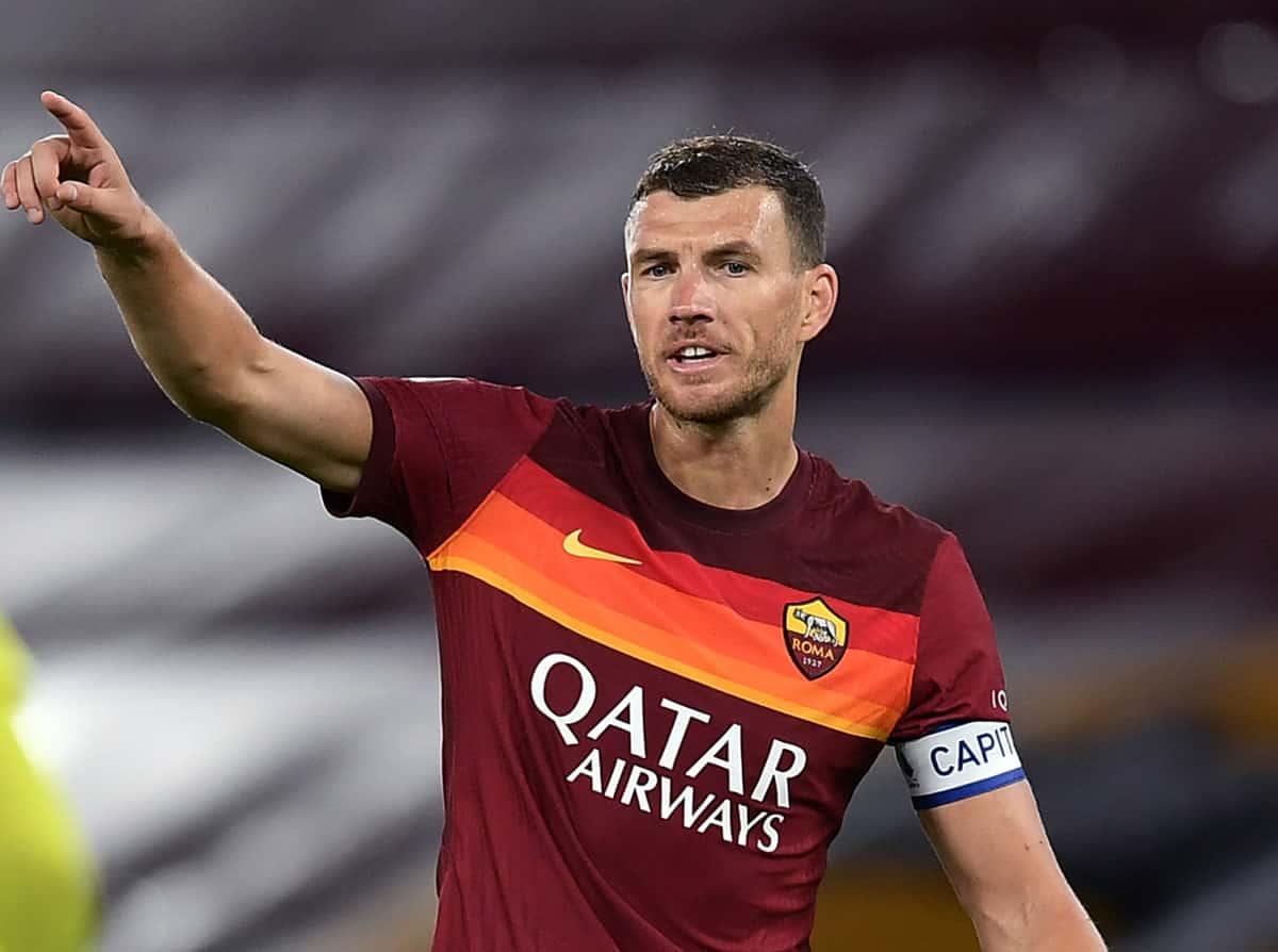 Edin Dzeko attaccante della Roma