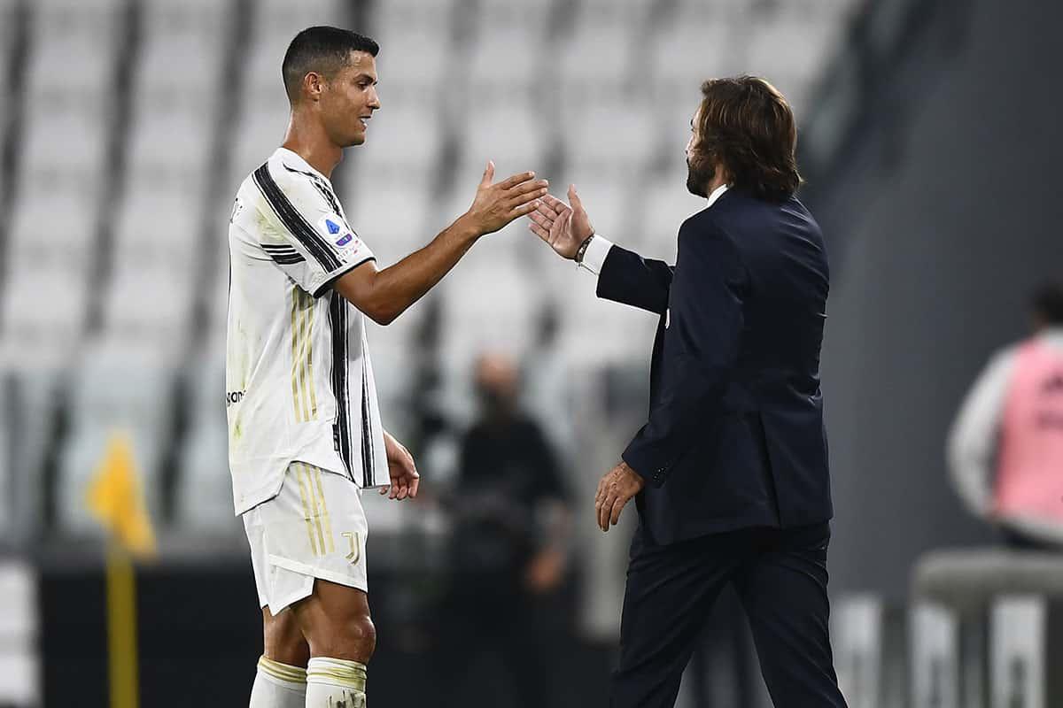 Andrea Pirlo e Cristiano Ronaldo, allenatore e attaccante della Juventus @imagephotoagency