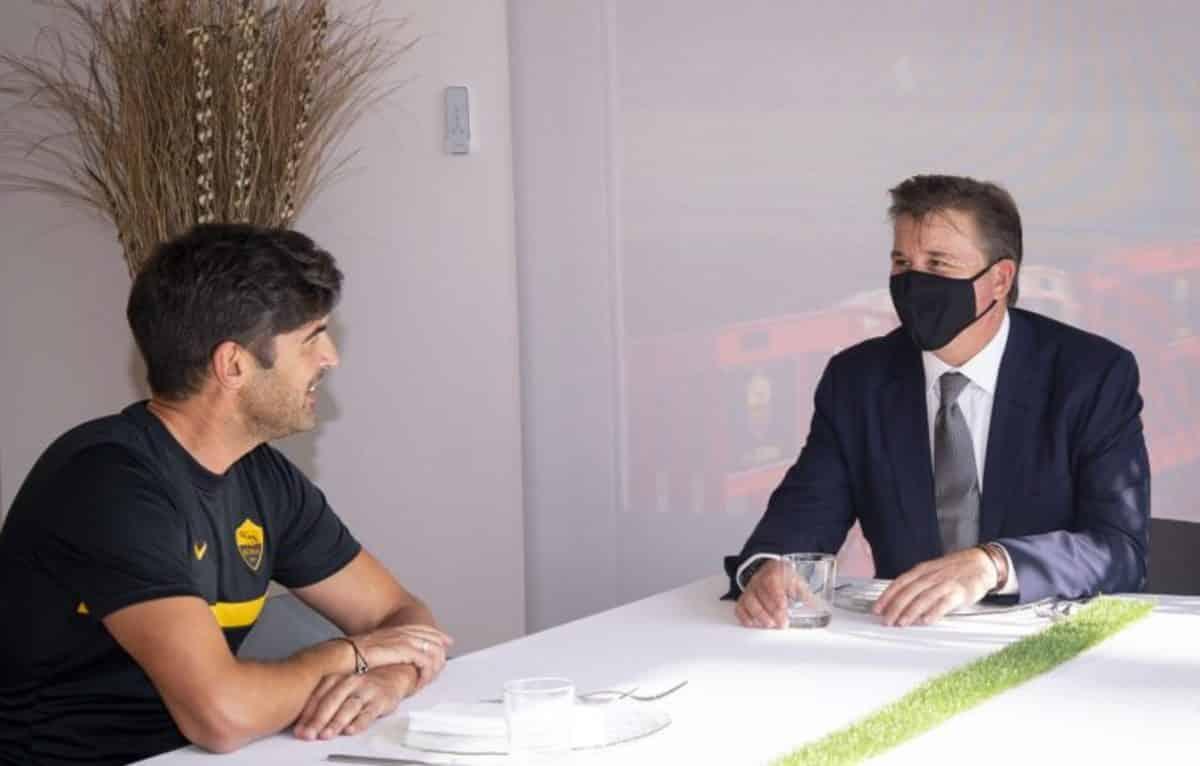 Dan Friedkin e Paulo Fonseca, presidente e allenatore della Roma