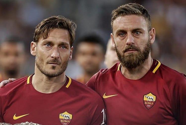 Totti e De Rossi, ex calciatori della Roma