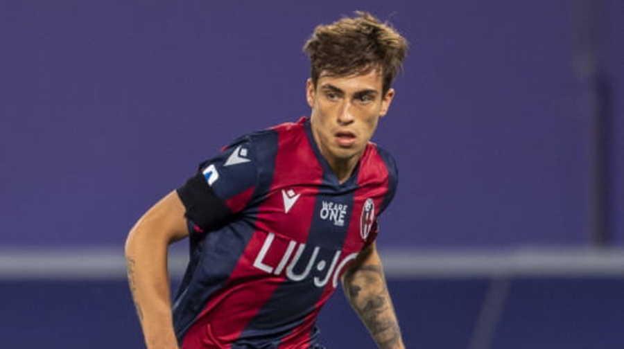 Gianmarco Cangiano, attaccante dell'Ascoli in prestito dal Bologna