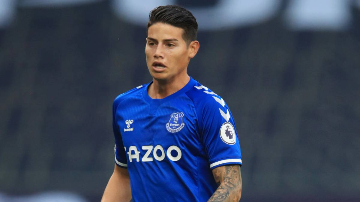 James Rodriguez, nuovo attaccante dell'everton
