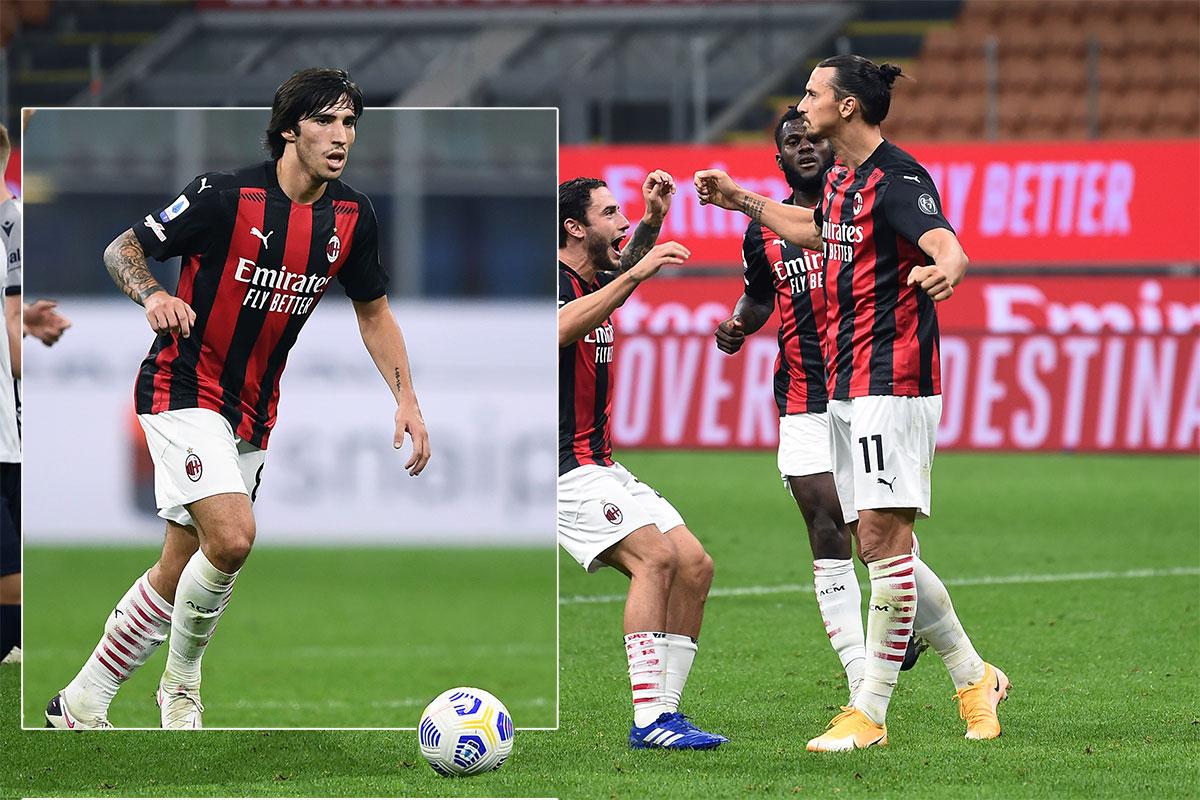 Milan Tonali e Ibrahimovic