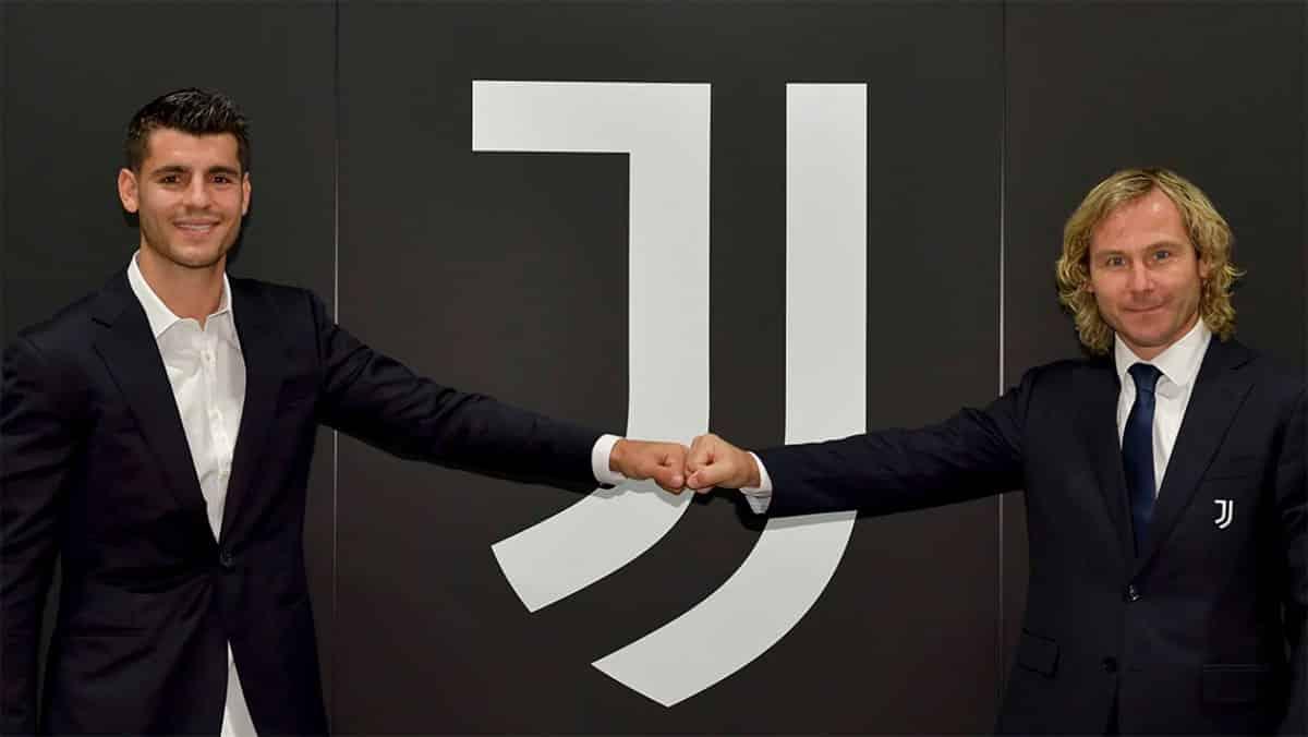 Morata e Nedved, presentazione alla Juventus