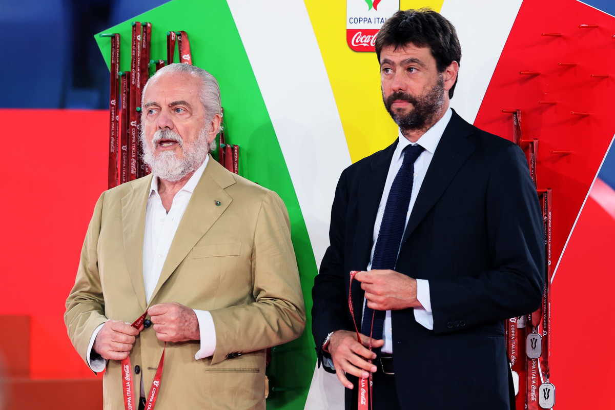 Aurelio De Laurentiis, presidente del Napoli e Andrea Agnelli, presidente della Juventus @imagephotoagency