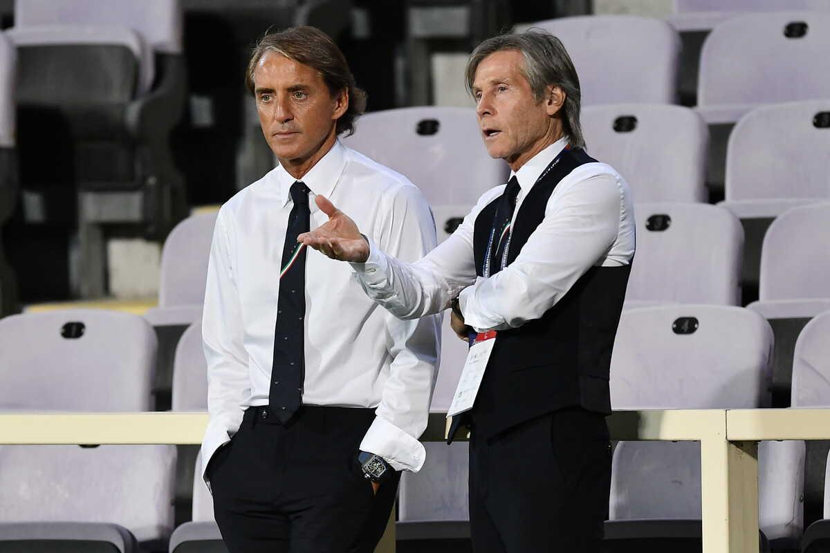 Roberto Mancini e Gabriele Oriali, Commissario Tecnico e Team Manager della Nazionale Italiana di calcio @imagephotoagency