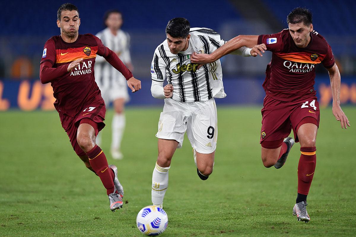 Spinazzola e Kumbulla (Roma-Juventus)