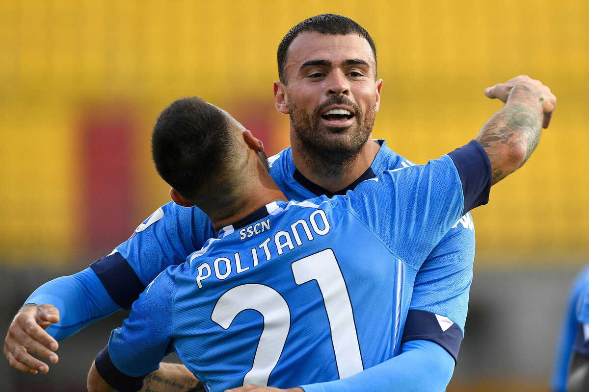 Andrea Petagna e Matteo Politano, attaccanti del Napoli @imagephotoagency