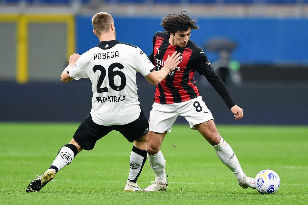 Sandro Tonali, nuovo centrocampista del Milan @imagephotoagency