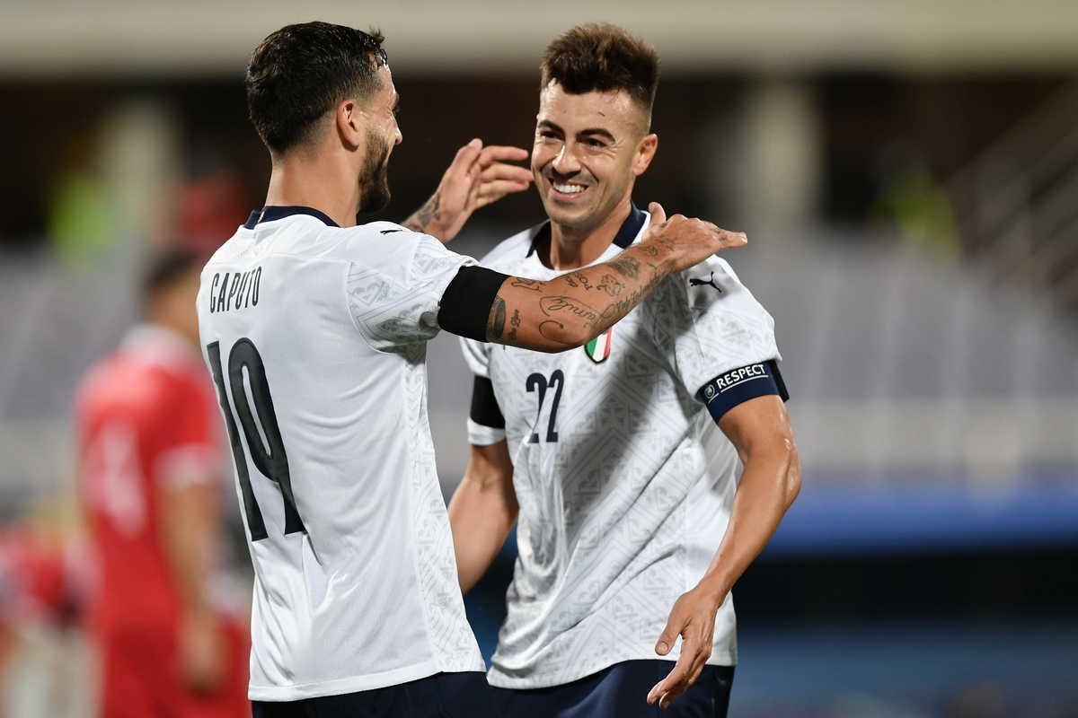 Ciccio Caputo e Stephan El Shaarawy, attaccanti della Nazionale Italiana @imagephotoagency